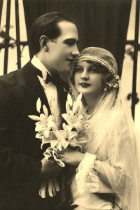 Newlywed vintage photo